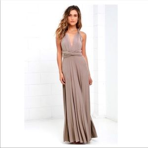 Lulus Tricks of the Trade Maxi dress in blush pink